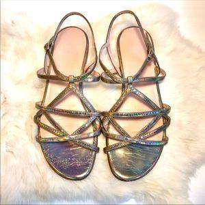 Stuart Weitzman Strappy Sandals Rainbow Color 8